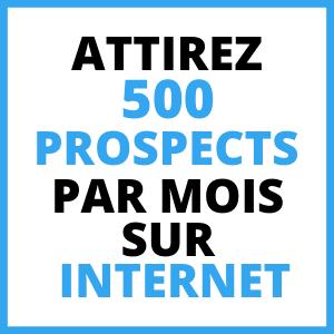 500 prospects mlm par mois sur internet