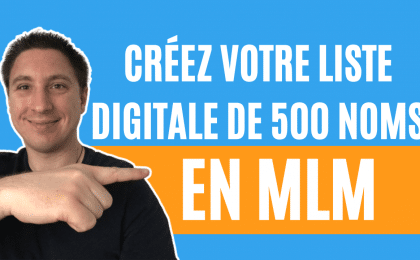 Liste de contacts digitales en mlm