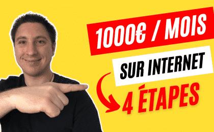 1000 euros par mois sur internet
