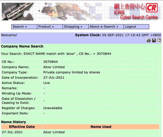 preuve enregistrement alcord trade